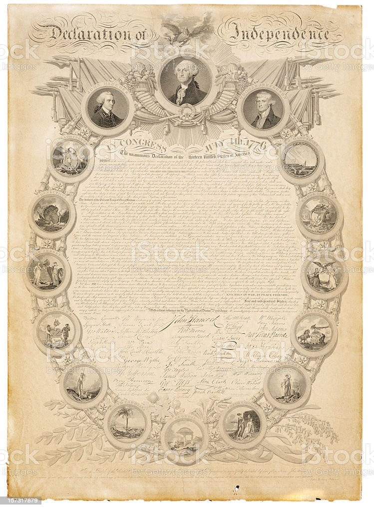 US Declaration of Independence vector art illustration