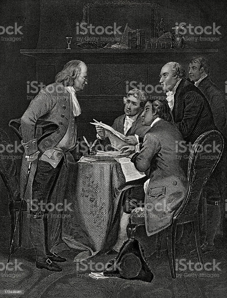 Declaration of Independence,July 4,1776. vector art illustration