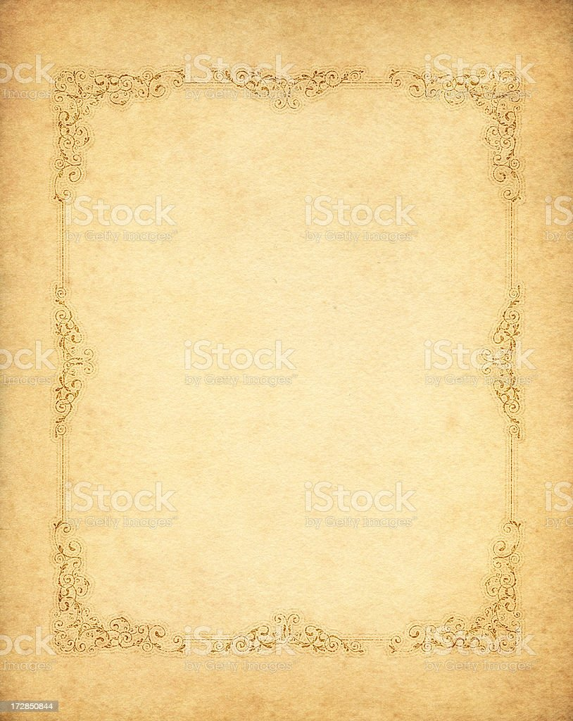 decorated old paper royalty-free stock vector art