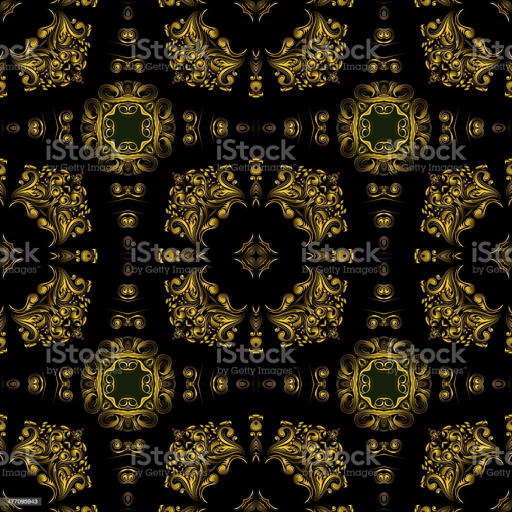 Decorative art, geometric pattern, symmetrical illustration, abstract fractals, seamless ornament. royalty-free decorative art geometric pattern symmetrical illustration abstract fractals seamless ornament stock vector art & more images of abstract