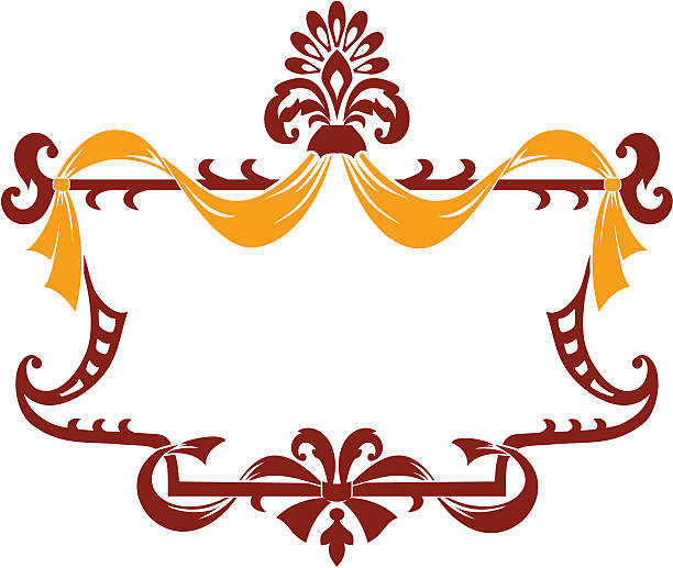 Decorative border vintage ornament vector art illustration