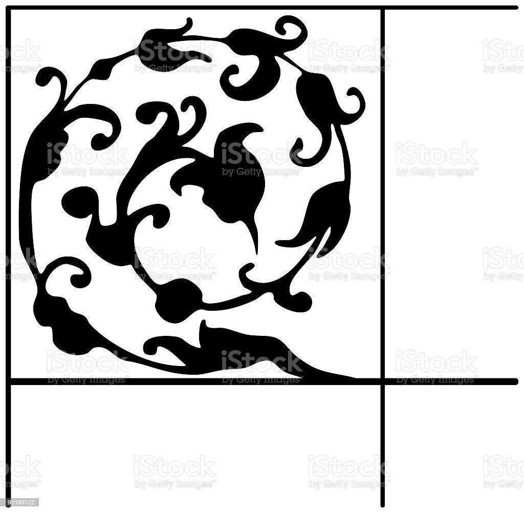 Decorative corner, Vector royalty-free stock vector art