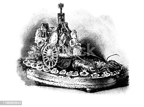 Decorative crab dish