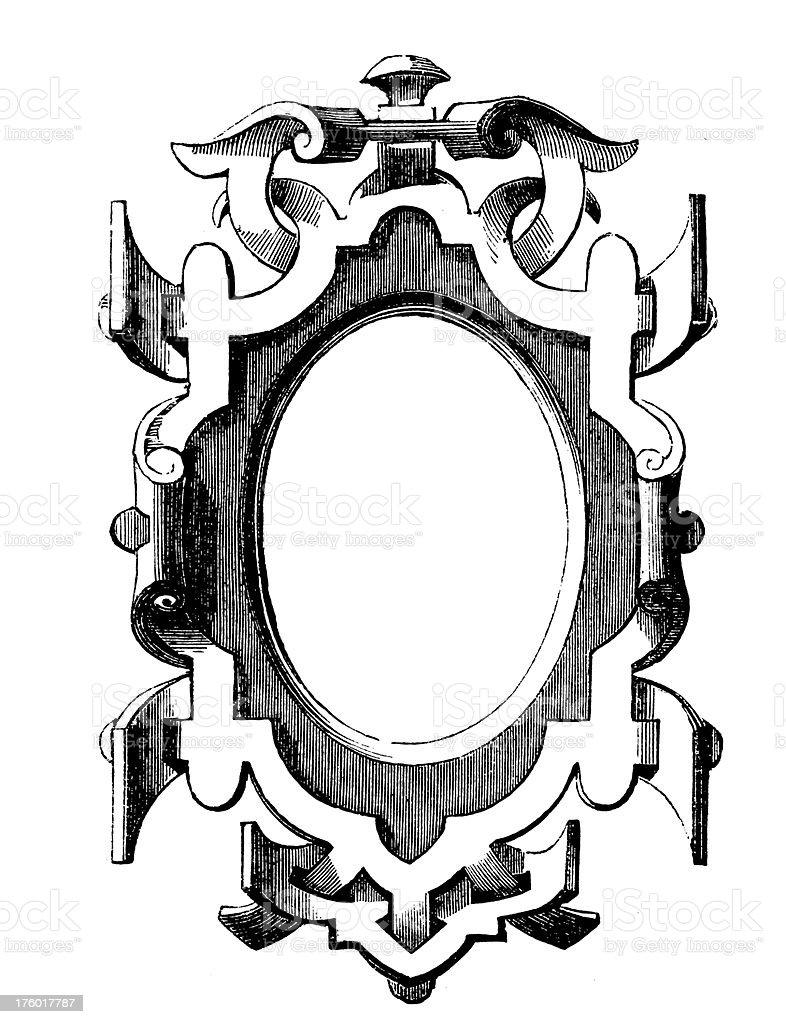 Decorative Floral Frame | Antique Design Illustrations royalty-free decorative floral frame antique design illustrations stock vector art & more images of 19th century