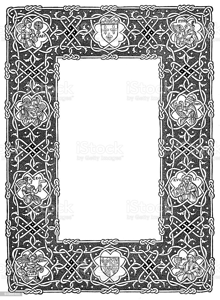 Decorative frame from 16th century royalty-free decorative frame from 16th century stock vector art & more images of 16th century style