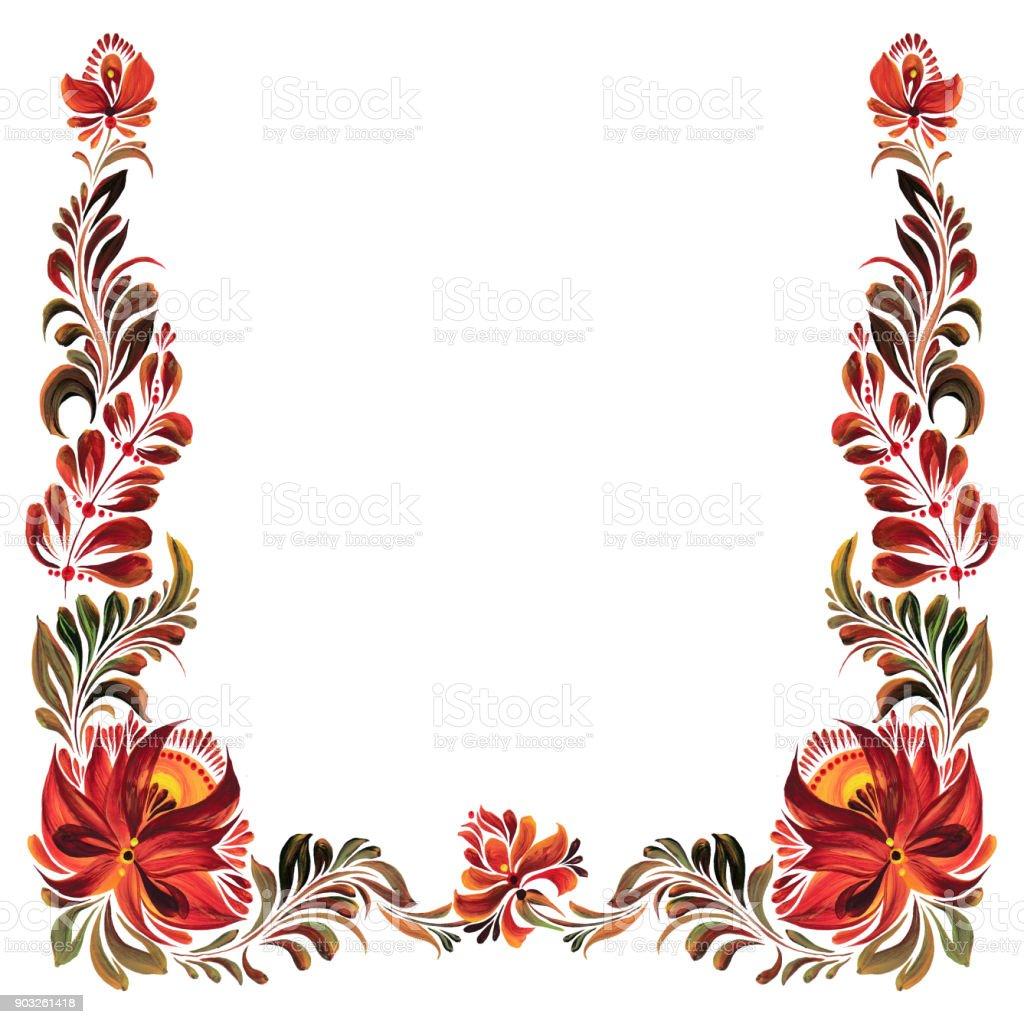 Dekorative Rahmen Mit Blumen Stock Vektor Art Und Mehr Bilder Von