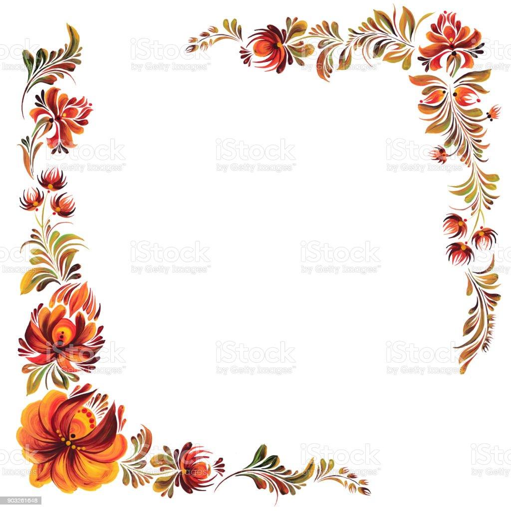 dekorative rahmen mit blumen stock vektor art und mehr bilder von abschied 903261648 istock. Black Bedroom Furniture Sets. Home Design Ideas