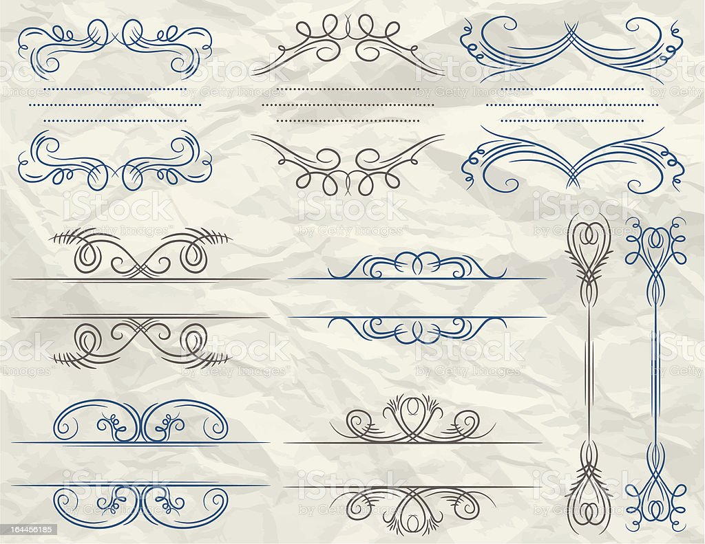decorative frames over paper background royalty-free stock vector art