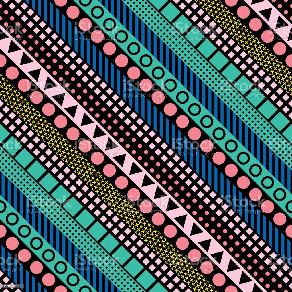 Formes géométriques décoratifs de carrelage. Multicolore motif irrégulier.  Abstrait coloré. Treillis ornemental décoratif artistique formes géométriques décoratifs de carrelage multicolore motif irrégulier abstrait coloré treillis ornemental décoratif artistique – cliparts vectoriels et plus d'images de a la mode libre de droits
