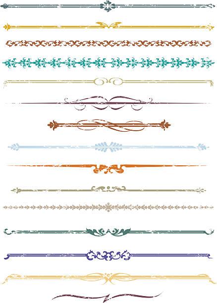 Decorative grunge lines two. vector art illustration