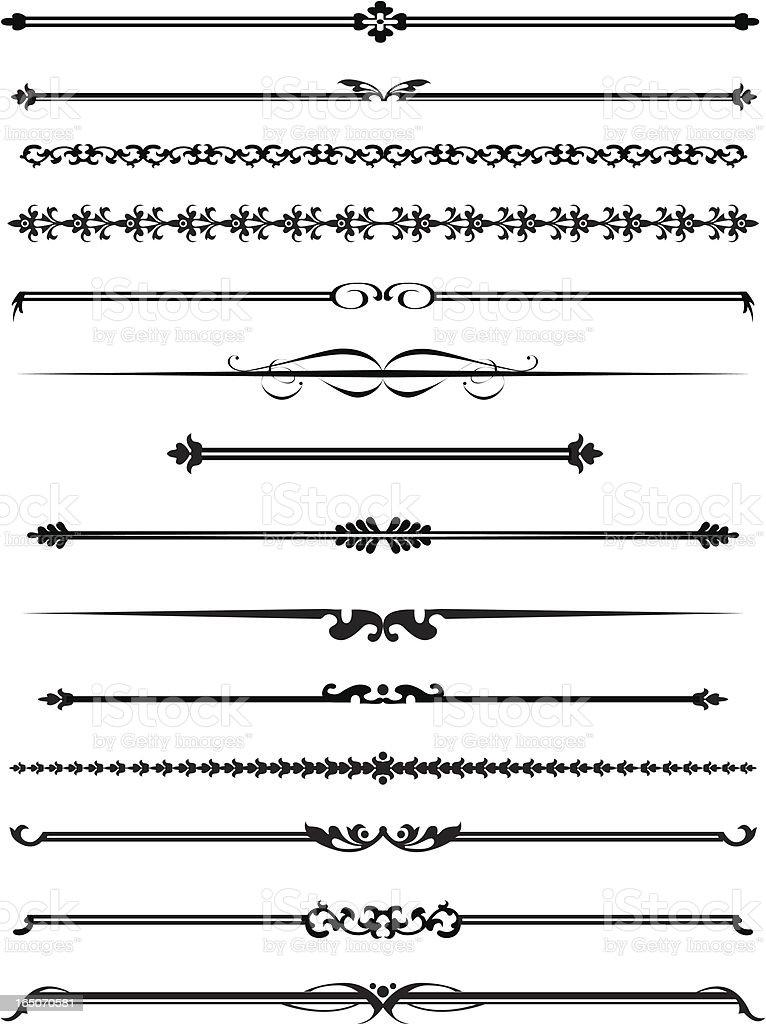 decorative lines four stock vector art 165070581 istock