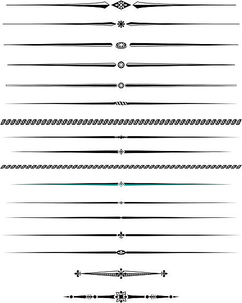 royalty free decorative lines clip art vector images