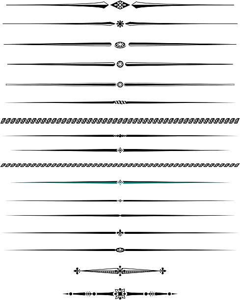 Decorative lines two vector art illustration