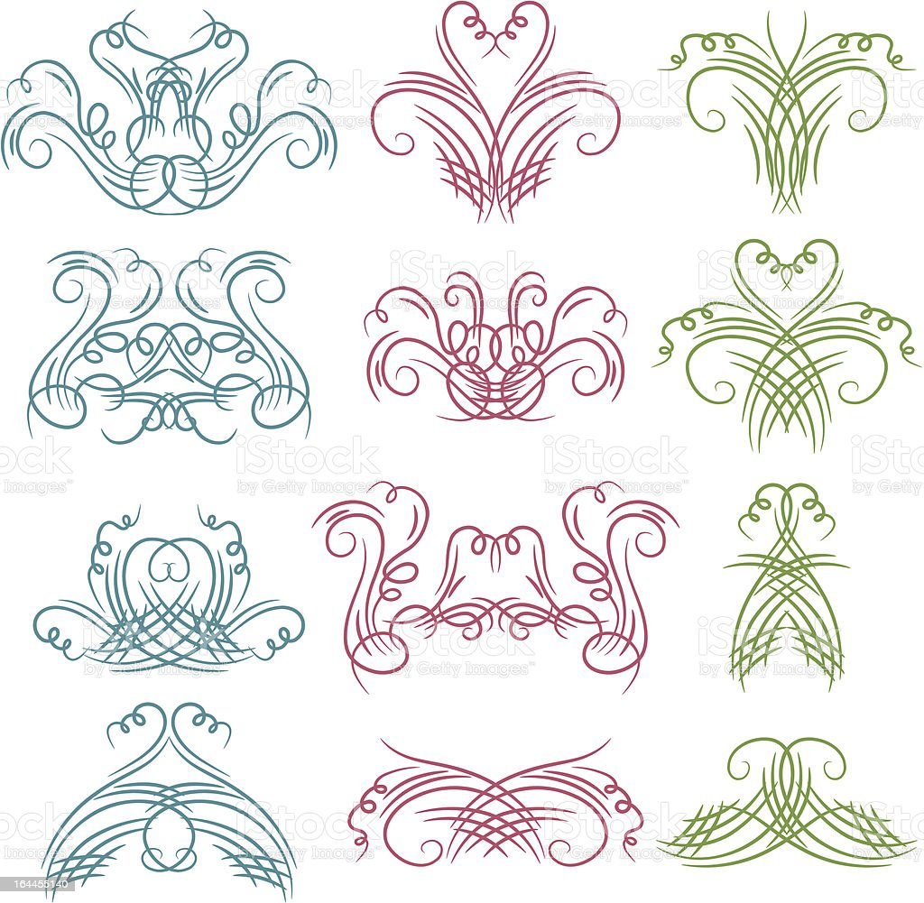 decorative  ornaments for design royalty-free stock vector art