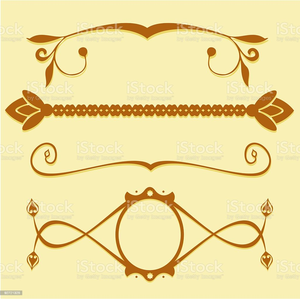 Decorative Ornaments vector art illustration
