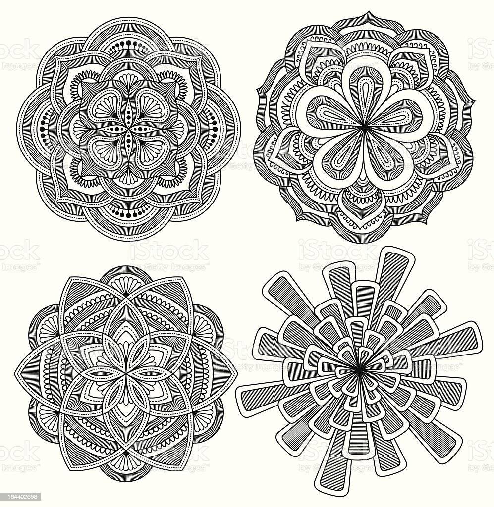 decorative patterns royalty-free stock vector art