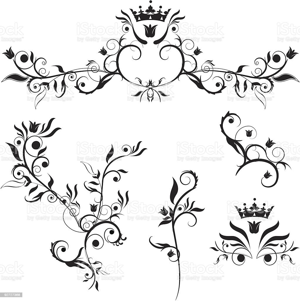 decorative plants royalty-free stock vector art