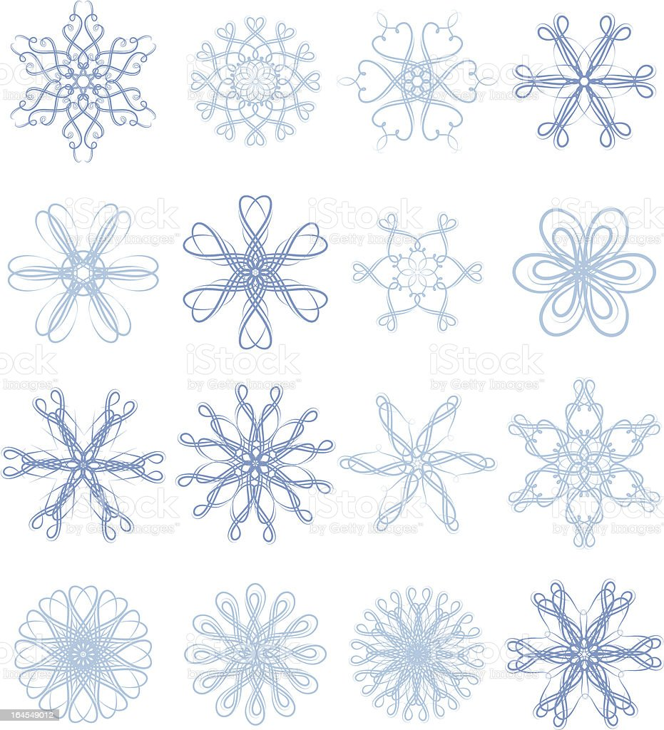 Decorative snowflakes royalty-free stock vector art