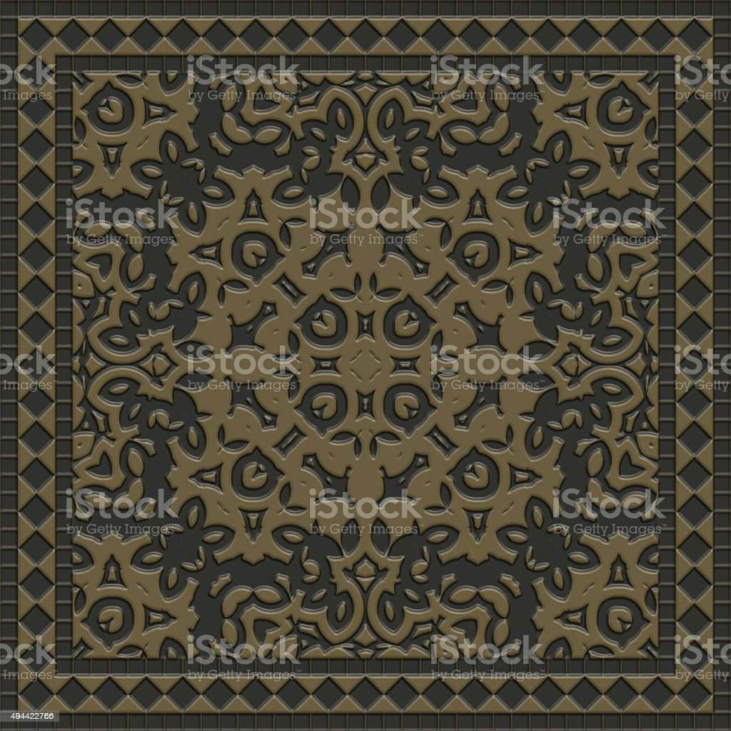 Decorative tile generated texture vector art illustration
