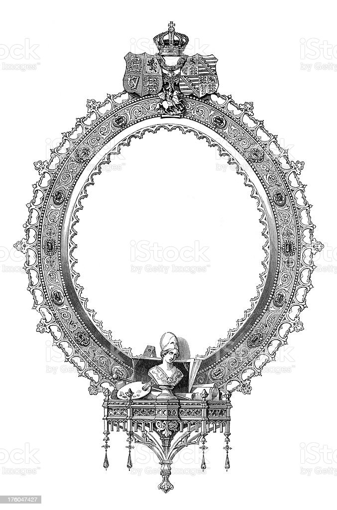 victorian frame design. Decorative Victorian Frame I Antique Design Illustrations Royalty-free S