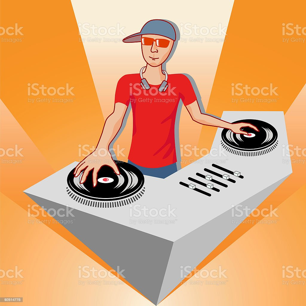 Deejay - vector royalty-free deejay vector stock vector art & more images of adolescence
