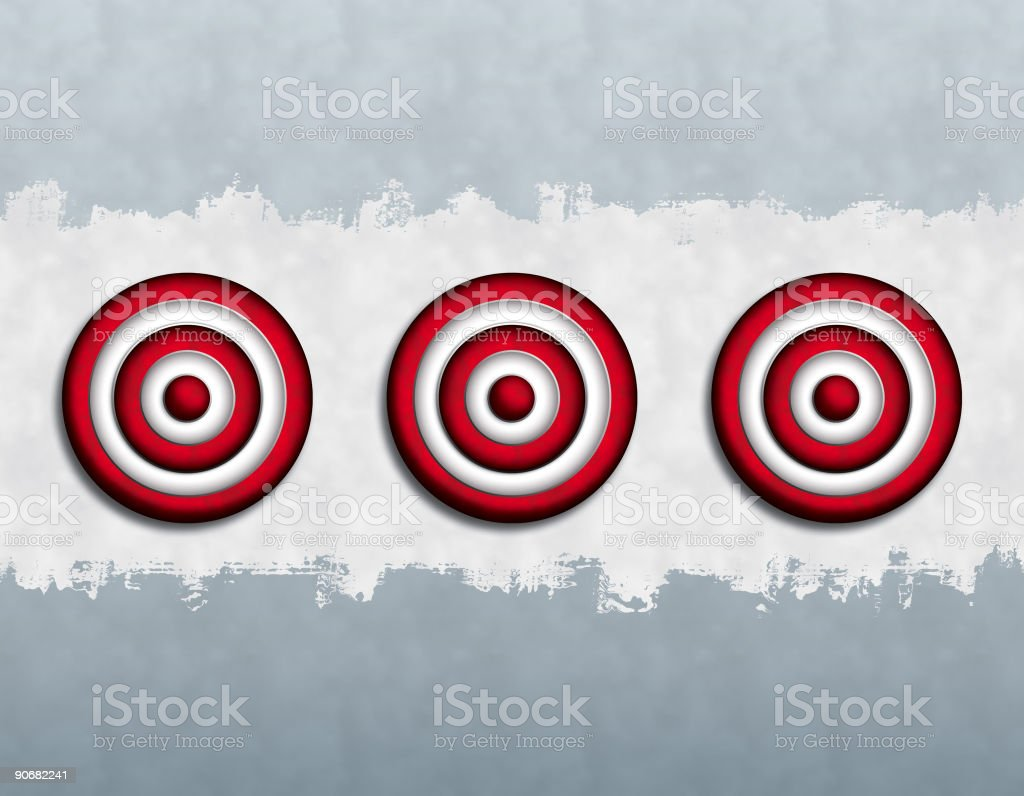 Deep Targets (3) royalty-free stock vector art