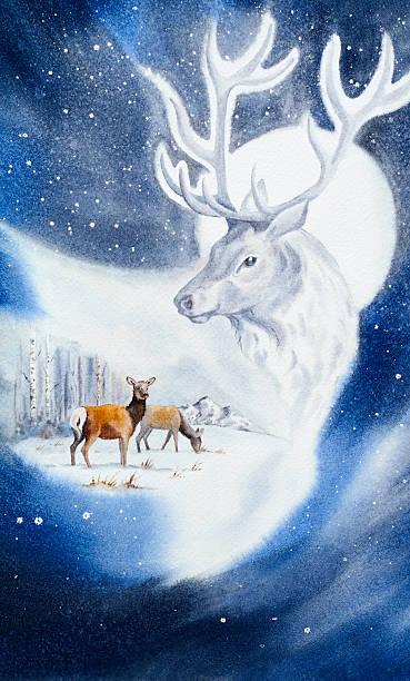 Deer Handsome Stranger vector art illustration