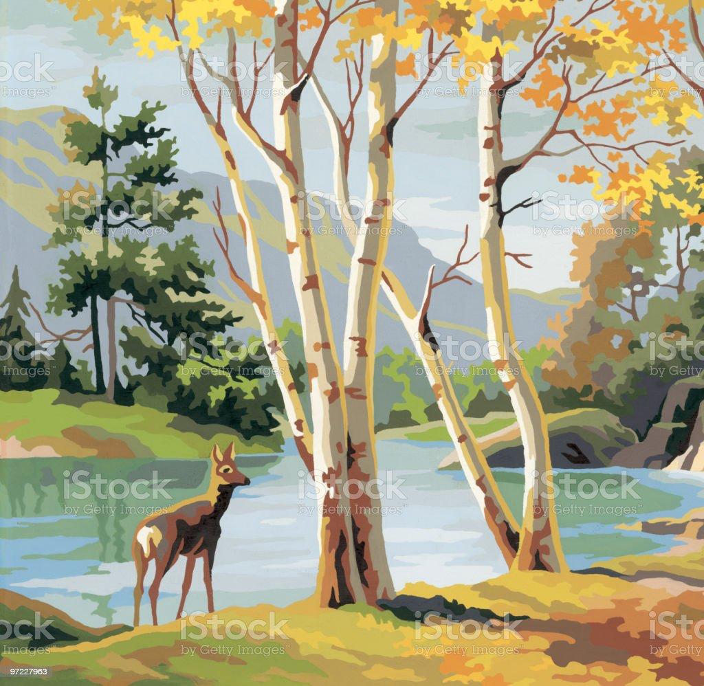Deer royalty-free stock vector art