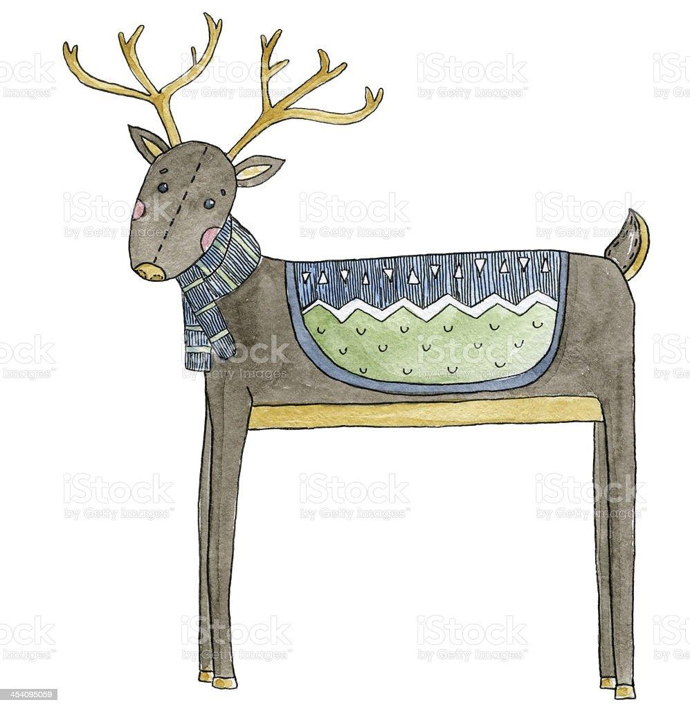 鹿の冬 のイラスト素材 454095059   istock