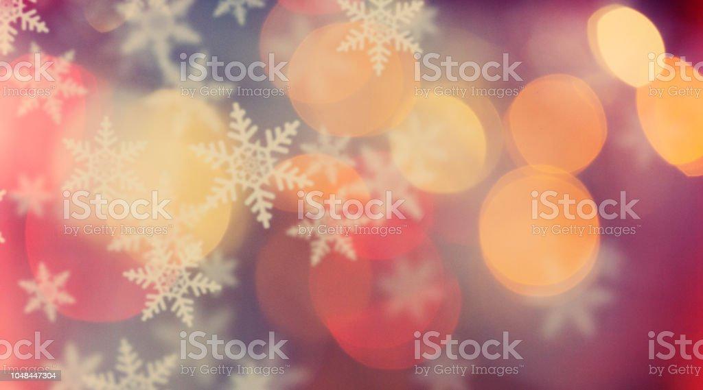 Intreepupil lichten en sneeuwvlokkenvectorkunst illustratie