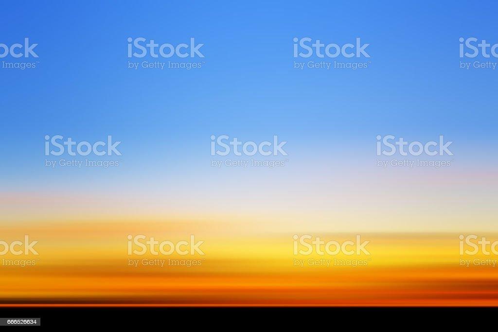 夕日の多重ビュー ベクターアートイラスト