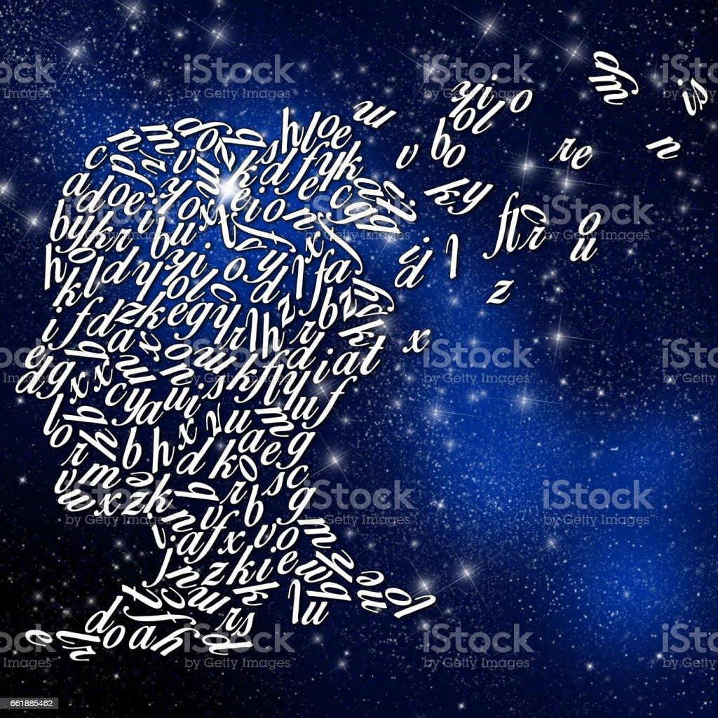 Degeneration of brain vector art illustration