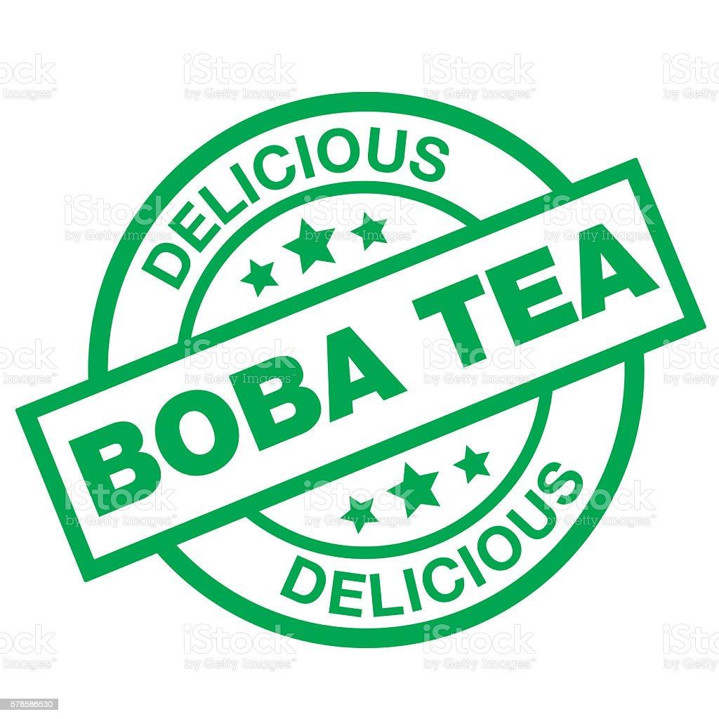 Delicious Boba Tea vector art illustration