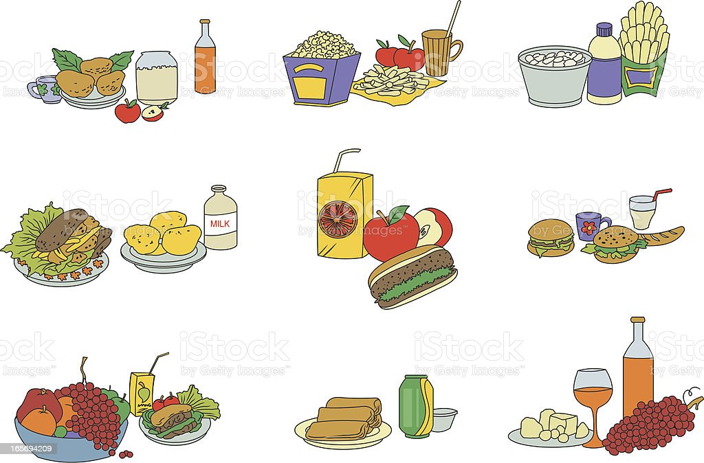 Delicious Food royalty-free stock vector art