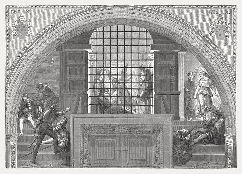 Deliverance of Saint Peter by Raphael (Italian Painter), published 1878