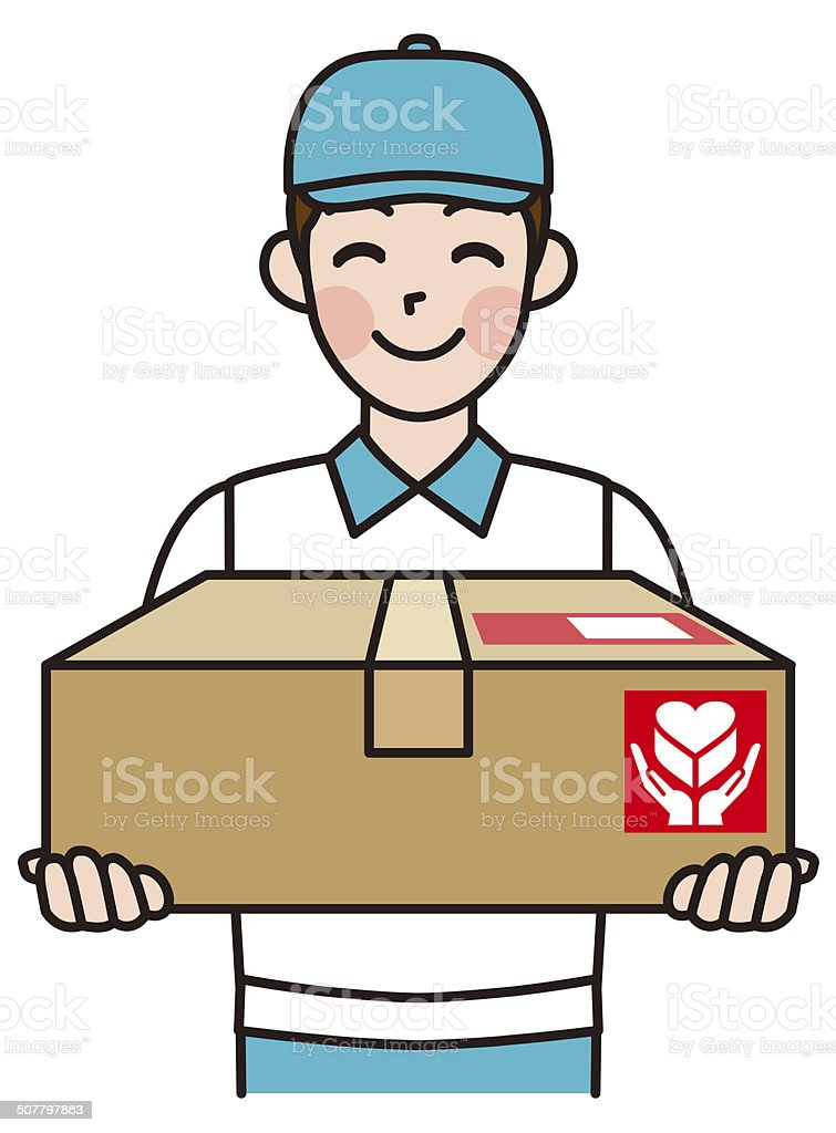 royalty free home delivery clip art vector images illustrations rh istockphoto com clipart delivery car clipart delivery man