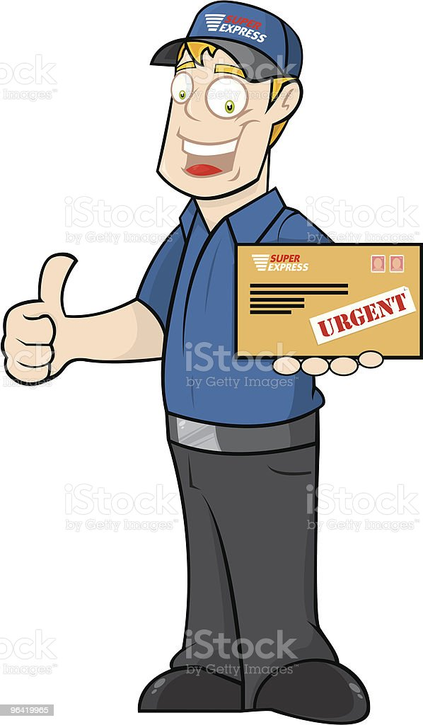 Delivery Guy royalty-free stock vector art