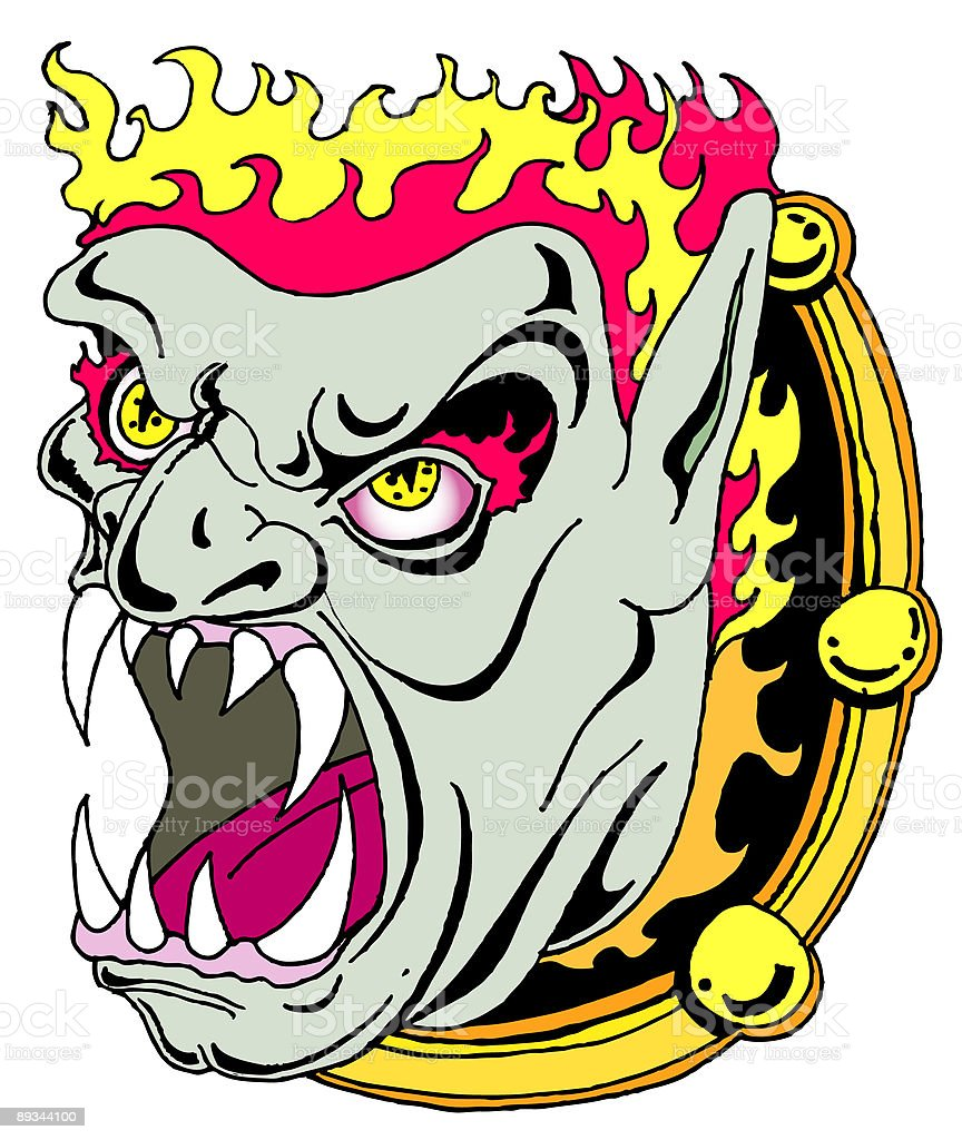 Demon in the mirror royalty-free demon in the mirror stock vector art & more images of anger