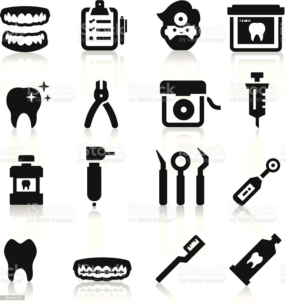 Dental Icons royalty-free dental icons stock vector art & more images of braces