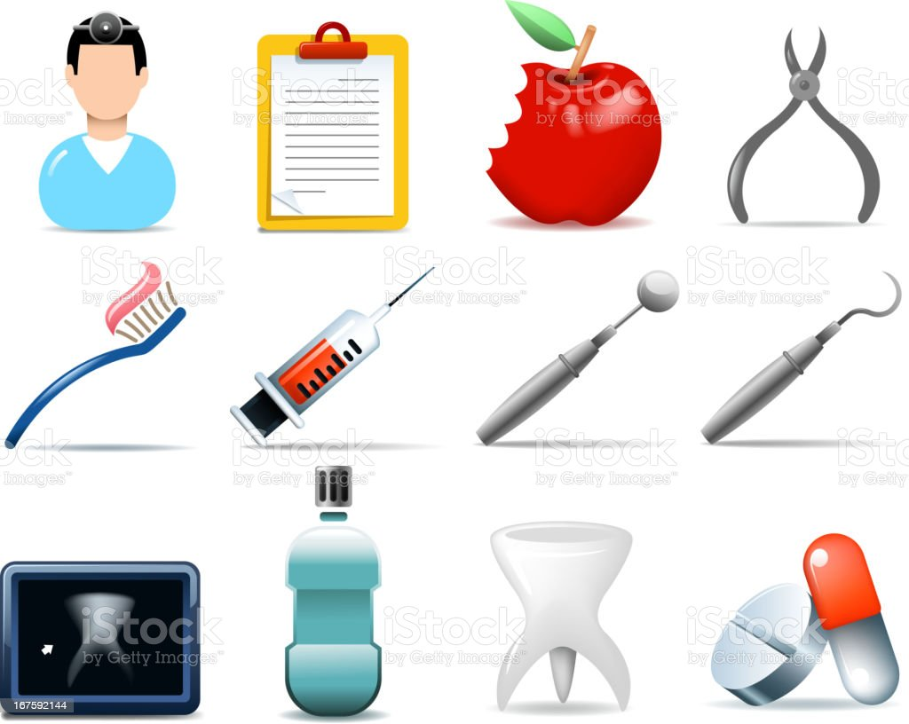 dentist symbols royalty-free dentist symbols stock vector art & more images of apple - fruit
