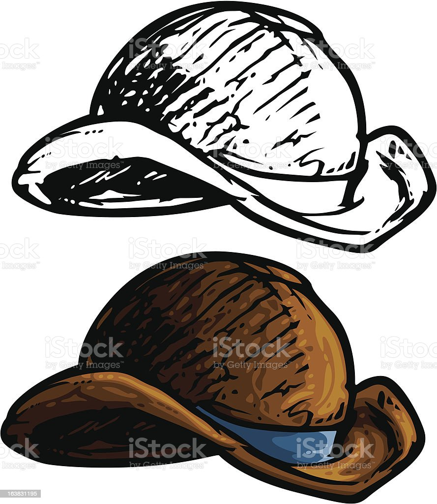 derby hat vector art illustration