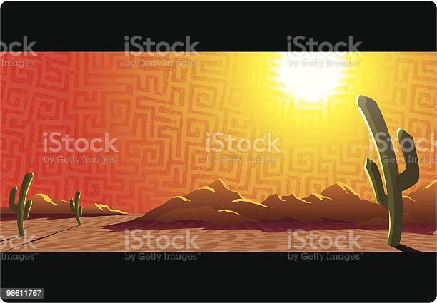 Desert Sunset-vektorgrafik och fler bilder på Arizona