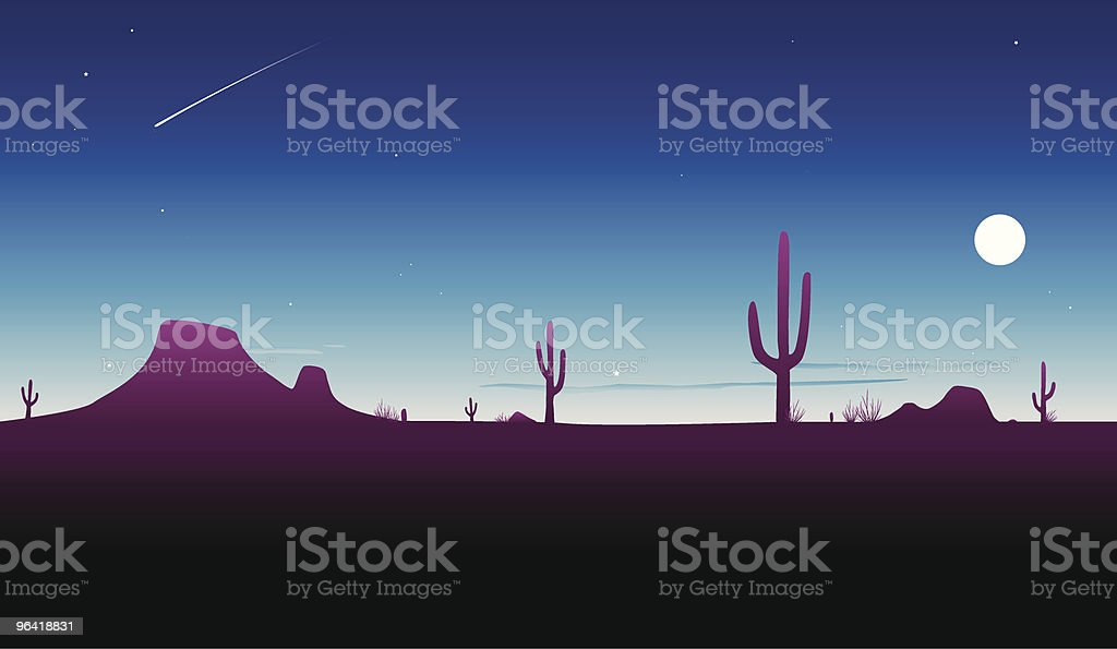 Desert Twilight [vector] royalty-free stock vector art