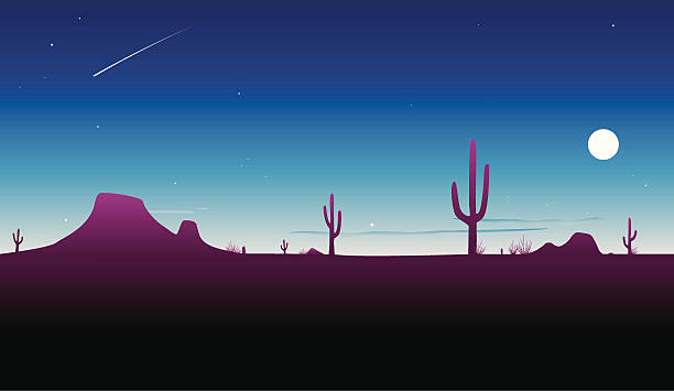 砂漠トワイライト[ベクトル] - 砂漠点のイラスト素材/クリップアート素材/マンガ素材/アイコン素材