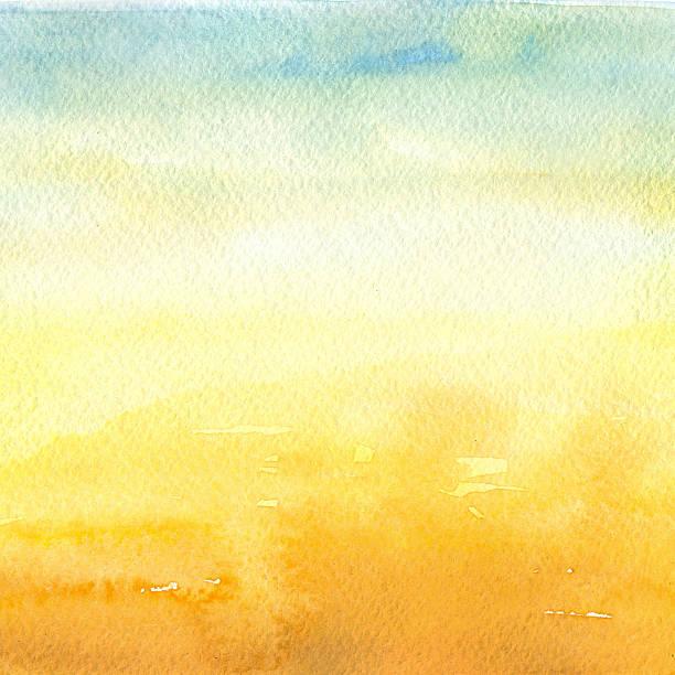 desert - watercolor background - sunrise stock illustrations, clip art, cartoons, & icons