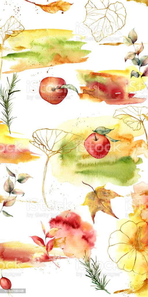 Design backgrounds for social media banner with autumn theme and...