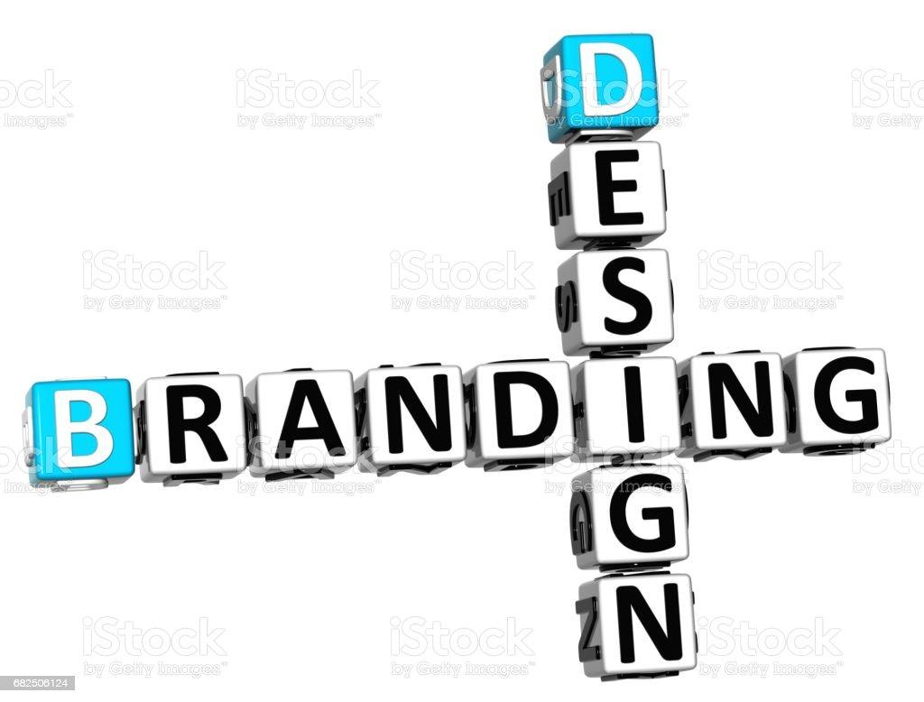 Diseño 3D Branding Crucigrama ilustración de diseño 3d branding crucigrama y más banco de imágenes de abstracto libre de derechos