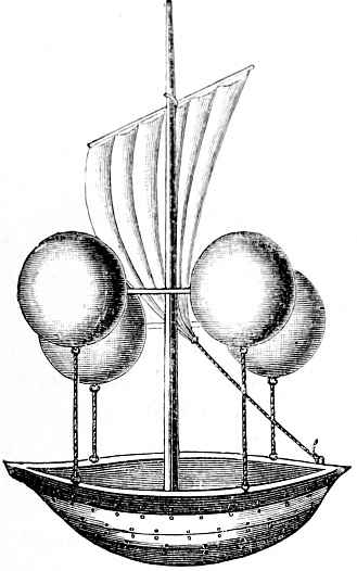 Design by Lana for an airship, 1670