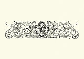 istock Design element, Jewel amoung swirls 1202731115
