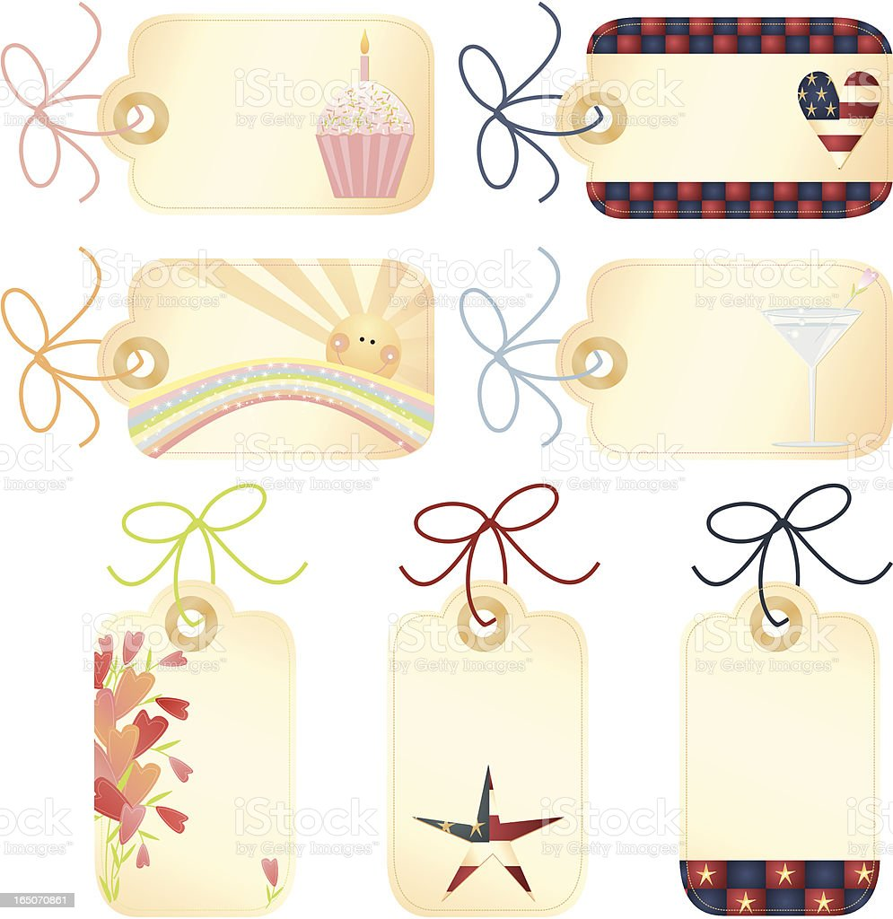 Design Elements - All Occassion Tags royalty-free stock vector art